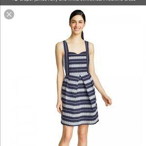Draper James Dresses - Draper James Lacey Stripe Sweetheart Navy Dress
